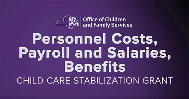 Child Care Stabilization Grant video on YouTube.