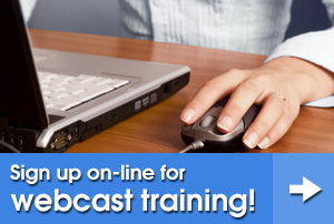 Sign up online now for webcast training