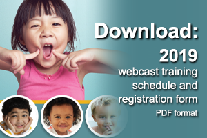 Download the latest webcast training schedule and registration form in PDF format