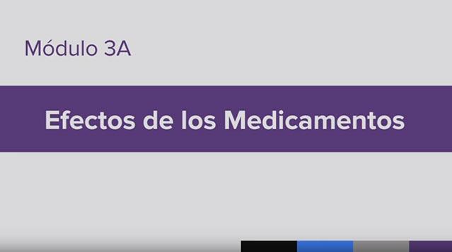 Entrenamiento para la Administración de Medicamento (MAT), Module 3A