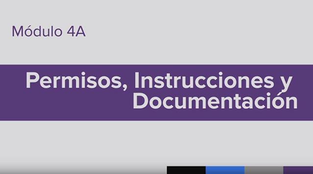 Entrenamiento para la Administración de Medicamento (MAT), Module 4A