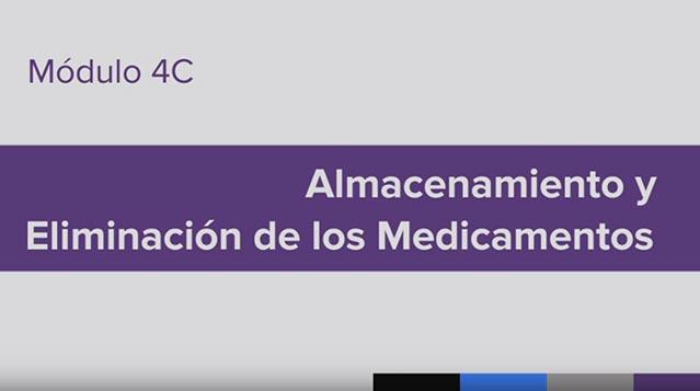 Entrenamiento para la Administración de Medicamento (MAT), Module 4C