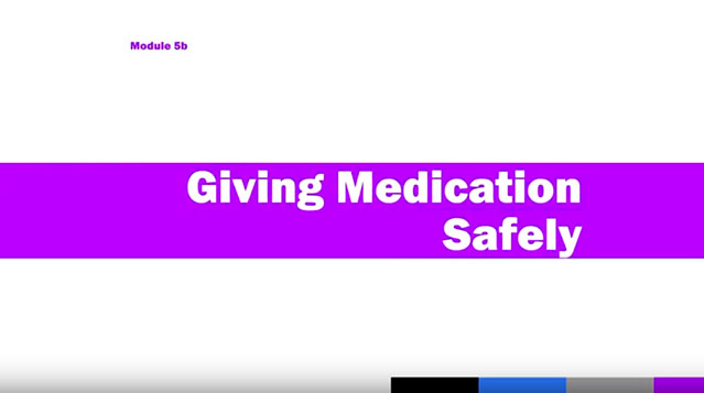 Medication Administration Training (MAT), Module 5b