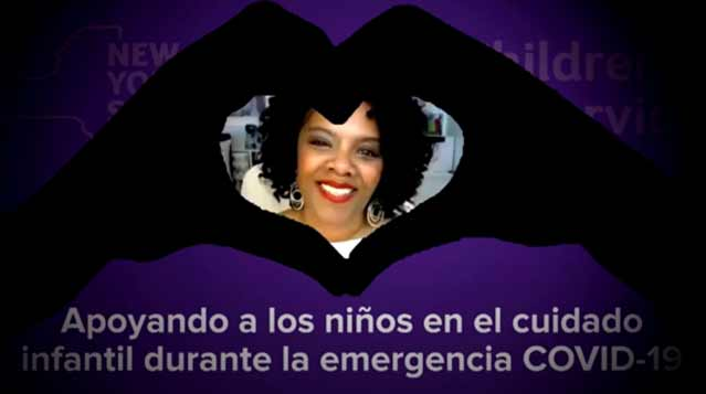 Apoyando a los niños en el cuidado infantil durante la emergencia COVID-19